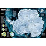 Antarctica Satellite, laminated : Wall Maps Continents: PP.NGC620091 (National Geographic Reference Map)