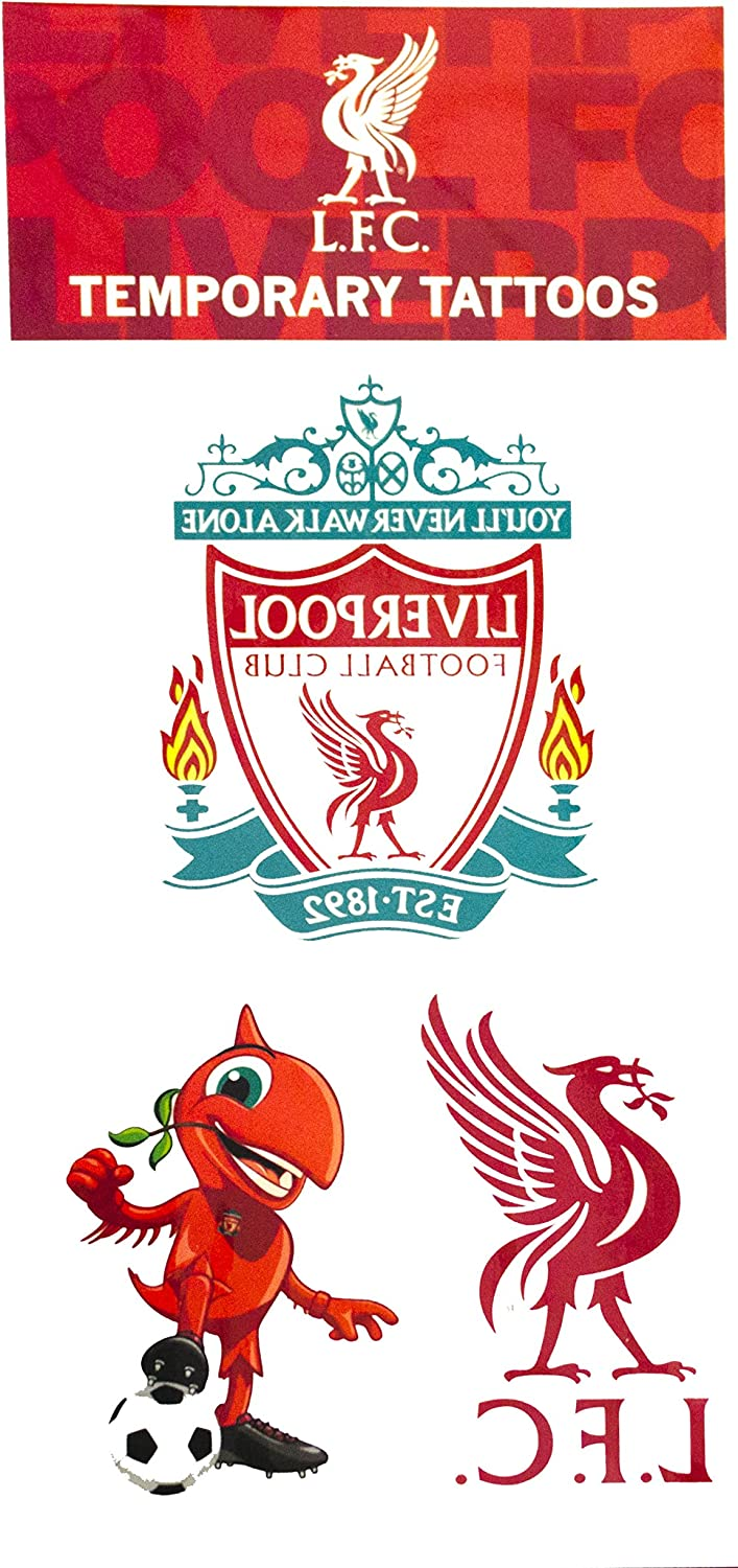 Official Liverpool Fc Temporary Tattoos Amazon Ca Sports Outdoors