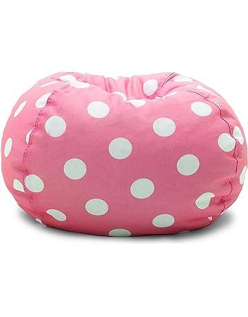 Big Joe 0630251 Candy Pink Polka Dot Classic Bean Bag Chair 92f8b46b4f01a