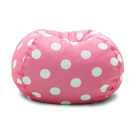 Merveilleux Big Joe Classic Bean Bag Chair, Candy Pink Polka Dot