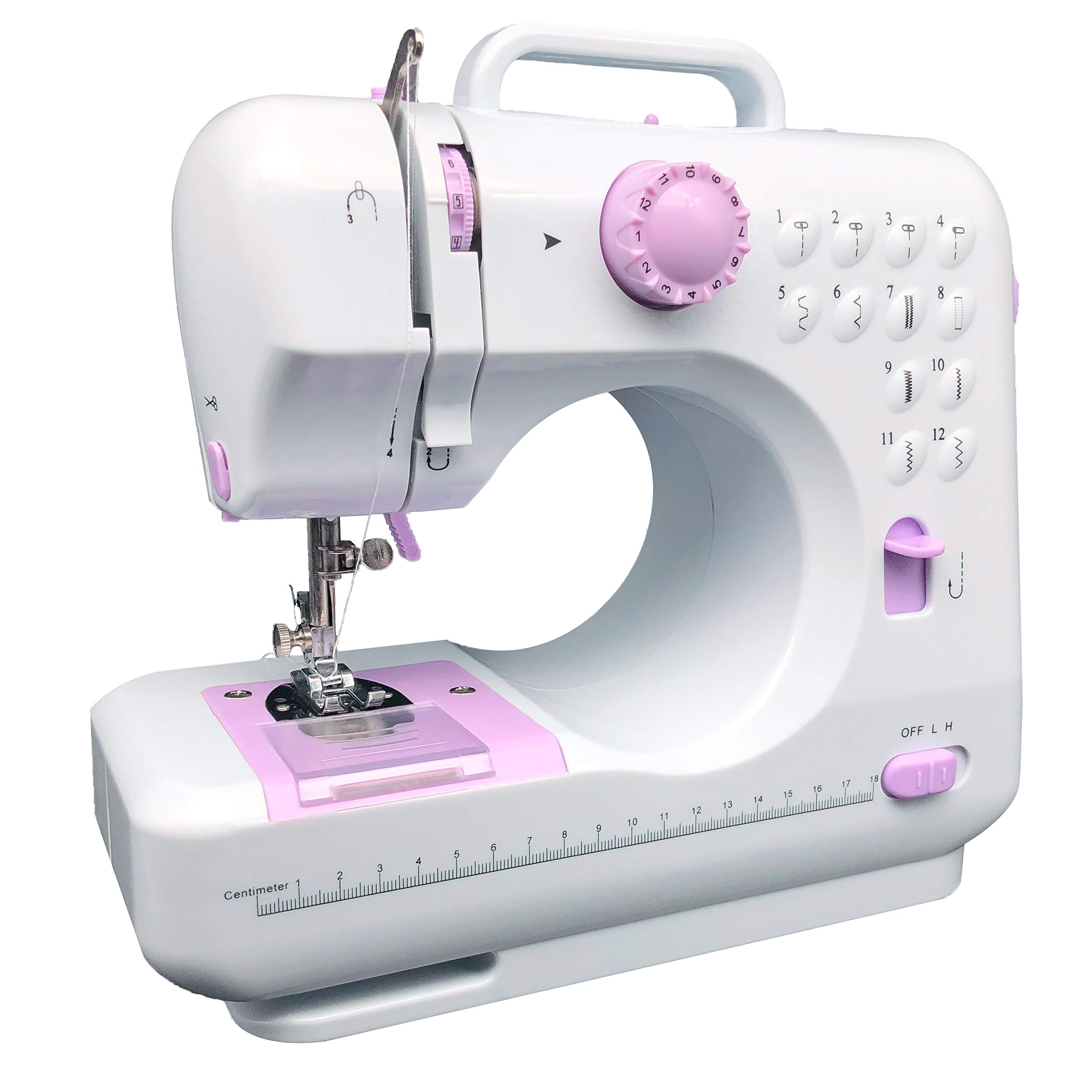 KPCB 505 Sewing Machine with 12 Stitches Mini Size with Backstitch Buttonholing by KPCB Tech