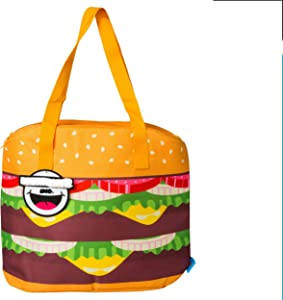 BigMouth Inc BMCB-0010 Giant Cheeseburger Cooler Bag Easy Packing, Fit up to 12 Standard Cans or Bottles