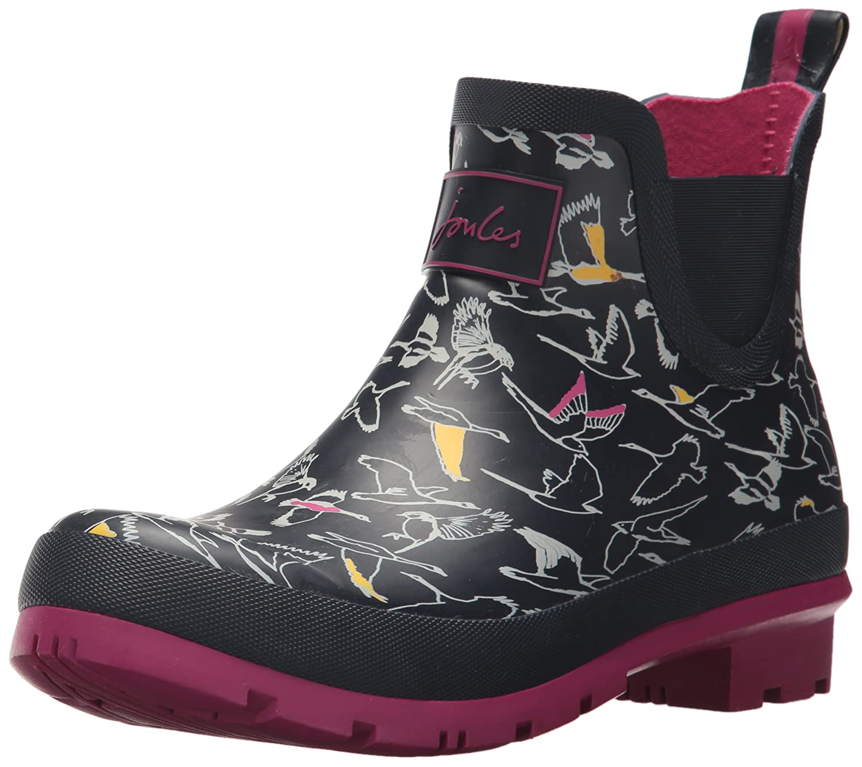 Joules Women's Wellibob Rain Boot B06W2JFNTQ 10 B(M) US|French Navy Multi Birds