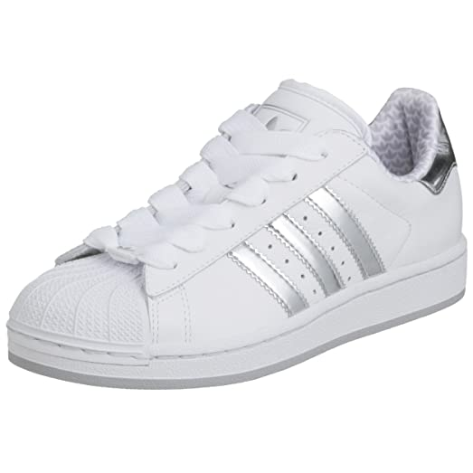adidas superstar white and silver