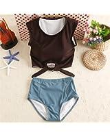 Michael Stevenson New Trending High Waist Bikini Swimsuit Women Swimwear Padded Sexy Crop Top Retro Bathing