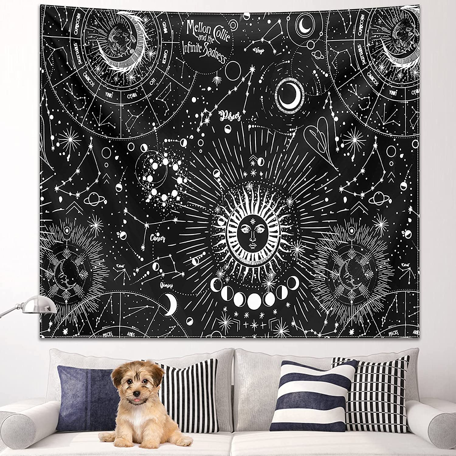 Tapestry Wall Hanging Constellation Tapestry Astrology Mountain Tapestry for bedroom aesthetic Decor Tapestry for Living Room Dorm College Mysterious Nebula Wall (L/60