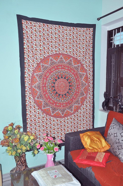 3D Indian Mandala Hippie Hippy Cotton Wall Hanging Bohemian Dorm Decor Tapestry