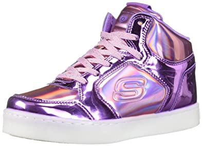 32eb2cedc8b4 Skechers Kids Girl s Energy 10943L Lights (Little Kid Big Kid) Pink Purple