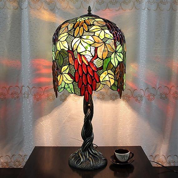 Creativo Europeo Tiffany Lámpara de mesa de 14 pulgadas uvas ...