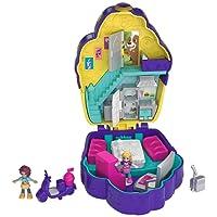 Polly Pocket Coffret Univers Le Café Cupcake avec 2 Mini-Figurines et Accessoires, Autocollants et 5 Surprises Cachées, Jouet Enfant, édition 2018, FRY36