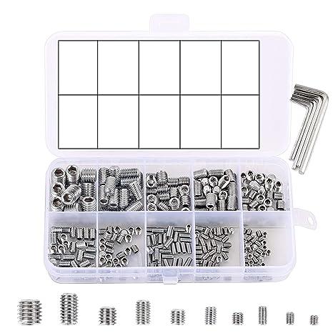 Amazon.com: PGMJ 300 piezas métricas (M3/M4/M5/M6/M8) Allen ...