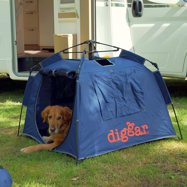 Diggar Diggarbox - Caja móvil para perros, tienda de campaña para exteriores, 100 x 100 x 70 cm, cama para perros, playa