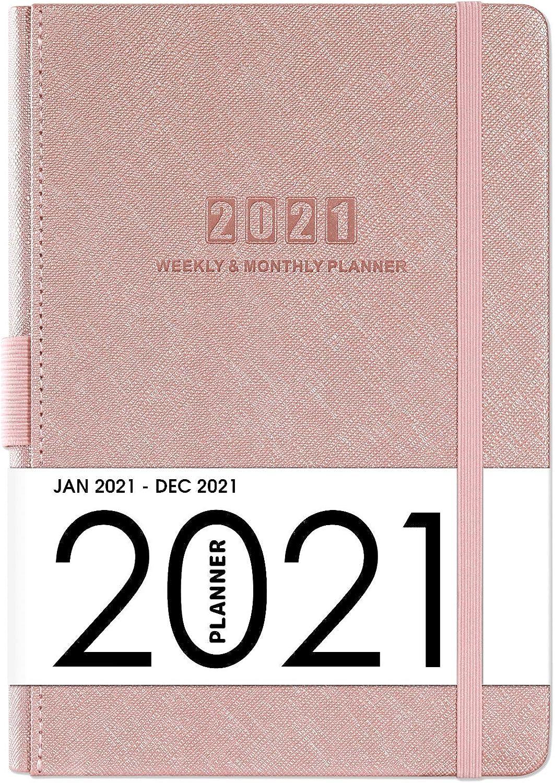 Artfan Planificador Semanal 12 Meses 2021 Rojo 14x21Cm. rosa