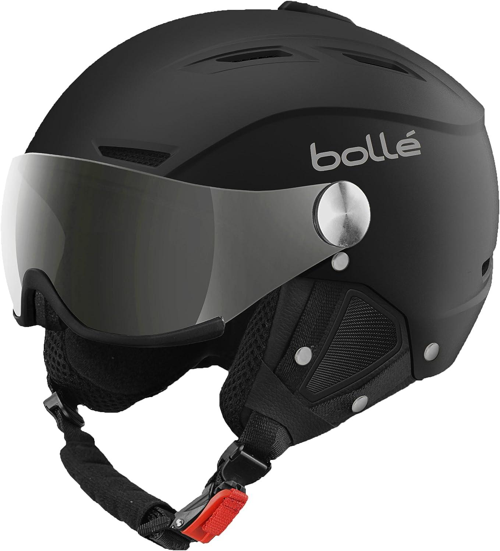 Bollé - Casco de esquí Backline Negro/Plateado (Soft Black/Silver), visor Plateado/Limón (Silver Gun/Lemon)