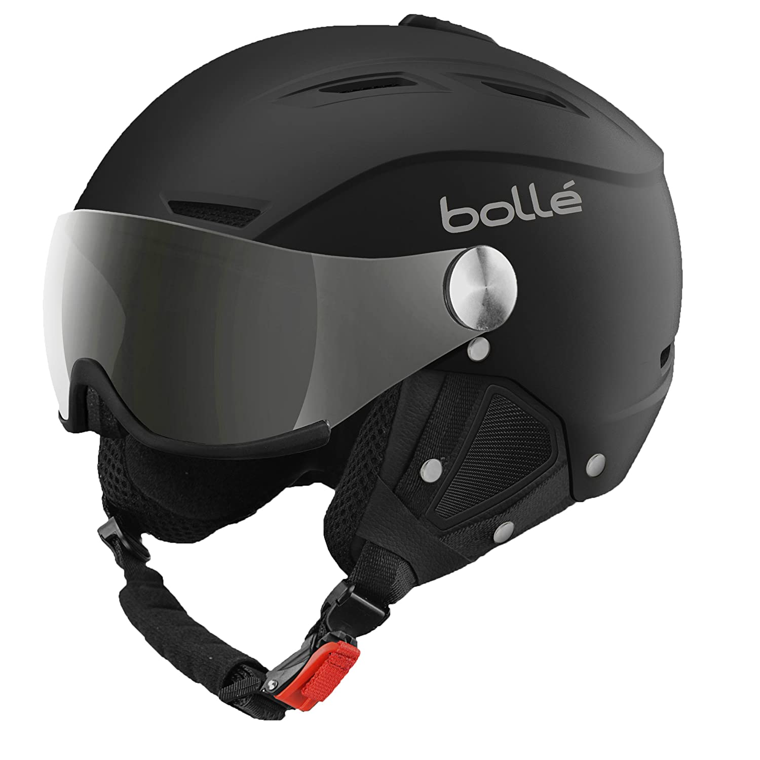 Bollé Casco de esquí Backline Visor Soft Black Silver Gun Lemon