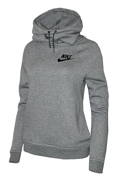 5fb5aee932b9 Nike Rally Funnel Neck Women s Hoodie Sweatshirt (M) Grey  Amazon.ca ...