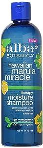 Alba Botanica Hawaiian Marula Miracle Therapy Moisture Shampoo, 12 Fluid Ounce