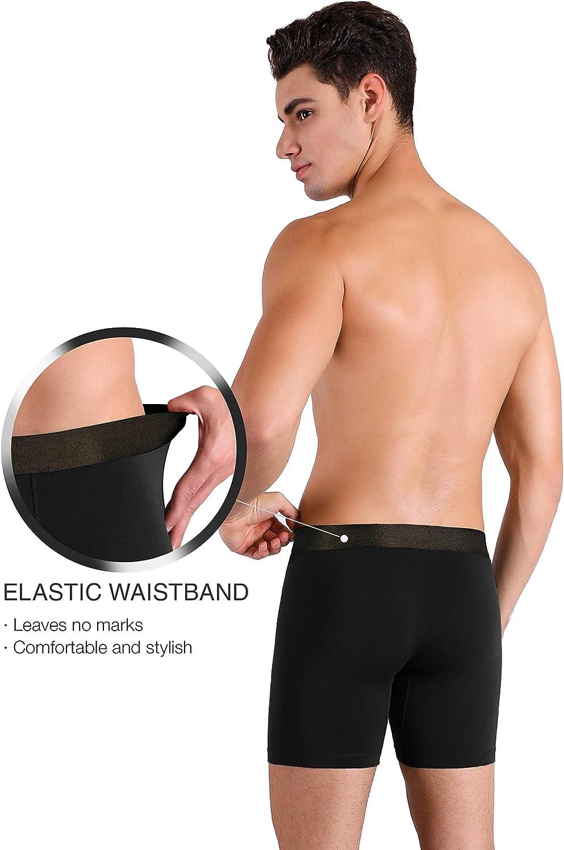 Bambus-Rayon mit 3D-Tasche DAVID ARCHY Boxershorts f/ür Herren hochwertiger Komfort Unterw/äsche. ultraweiche und atmungsaktive Passform