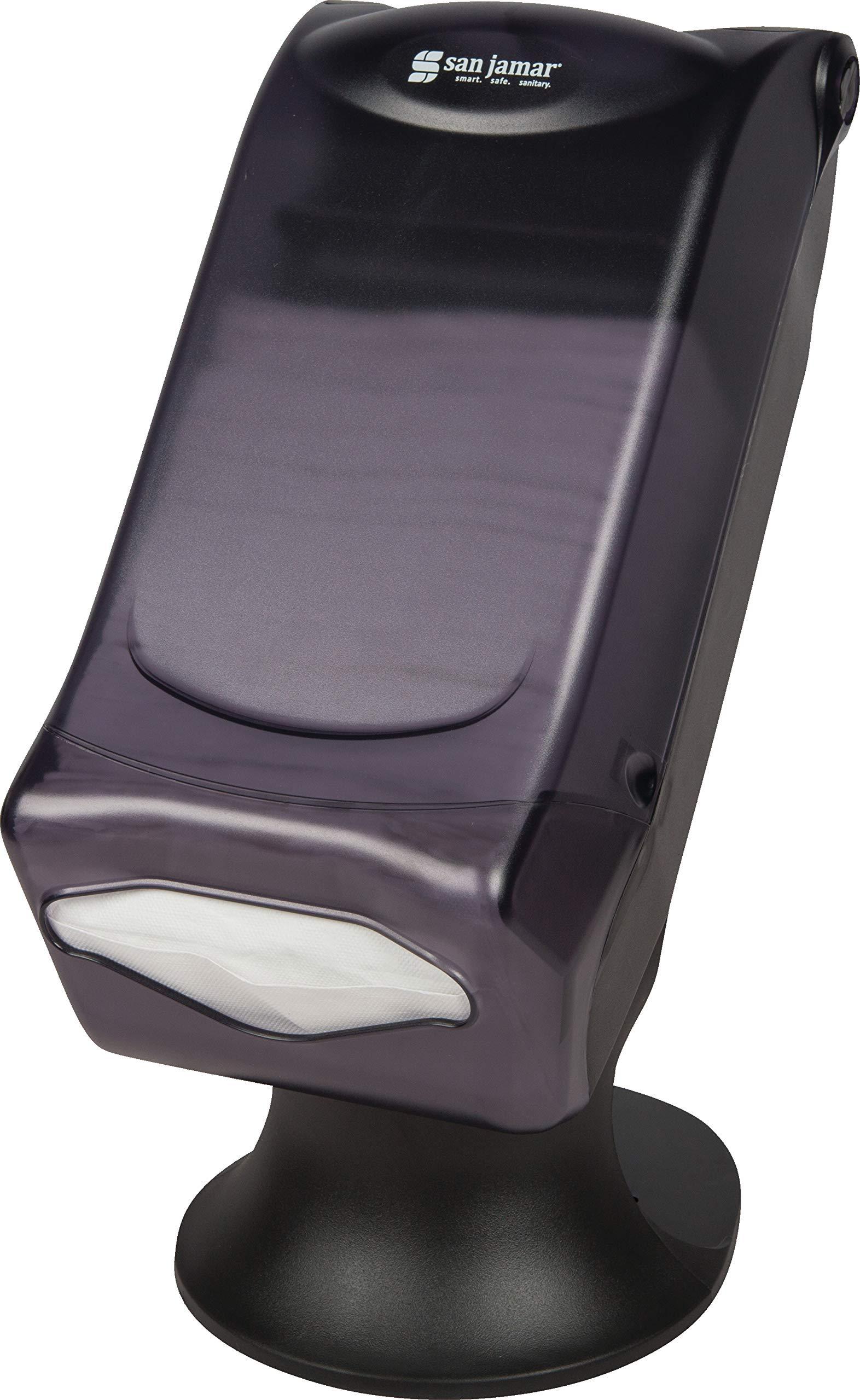 San Jamar H5005S Venue Fullfold Control Napkin Dispenser with Stand, 500 Capacity, 8'' Width x 17-1/2'' Height x 13'' Depth, Black Pearl by San Jamar