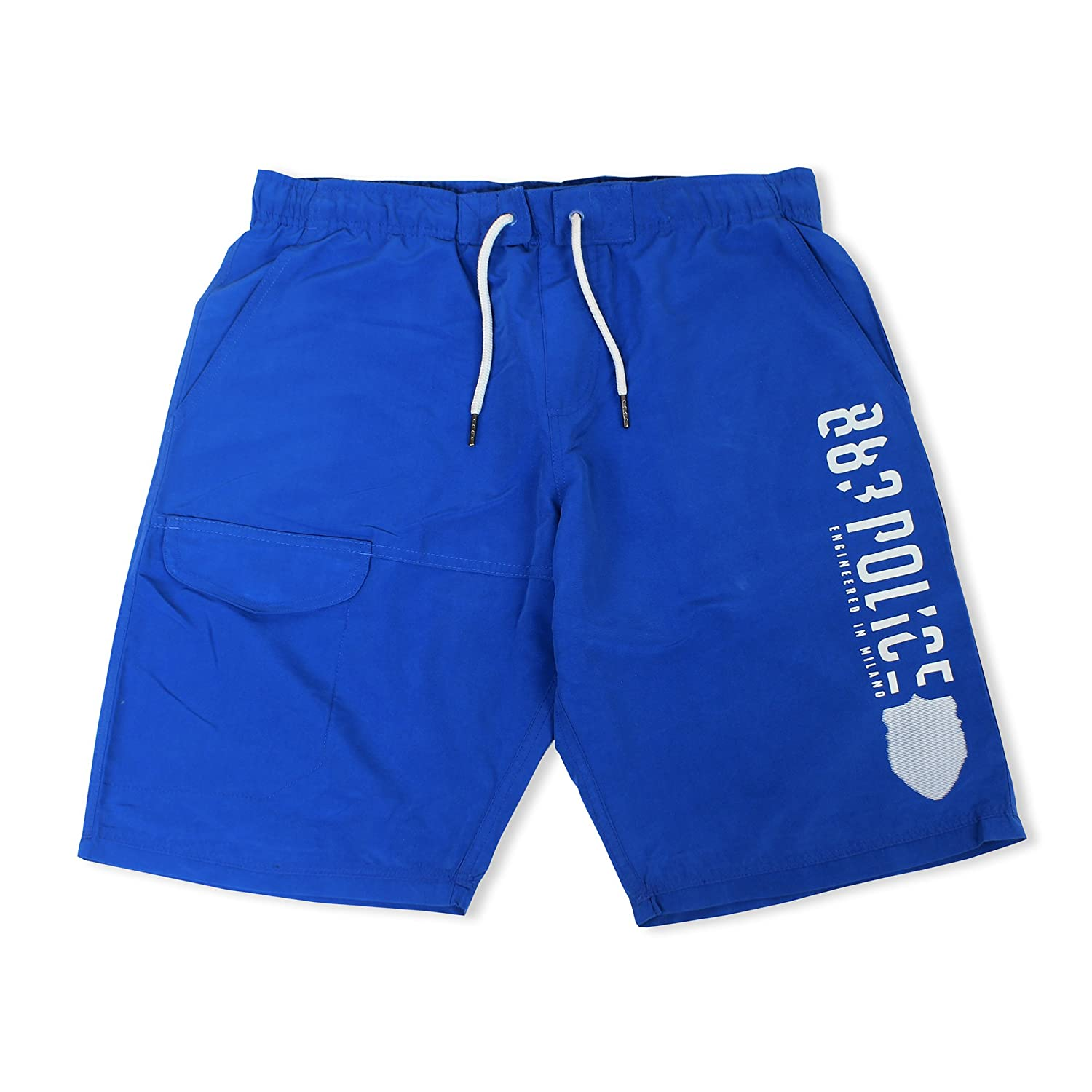 883 Police Mens Foster Electric Blue Swimming Swim Shorts Trunks Swimwear