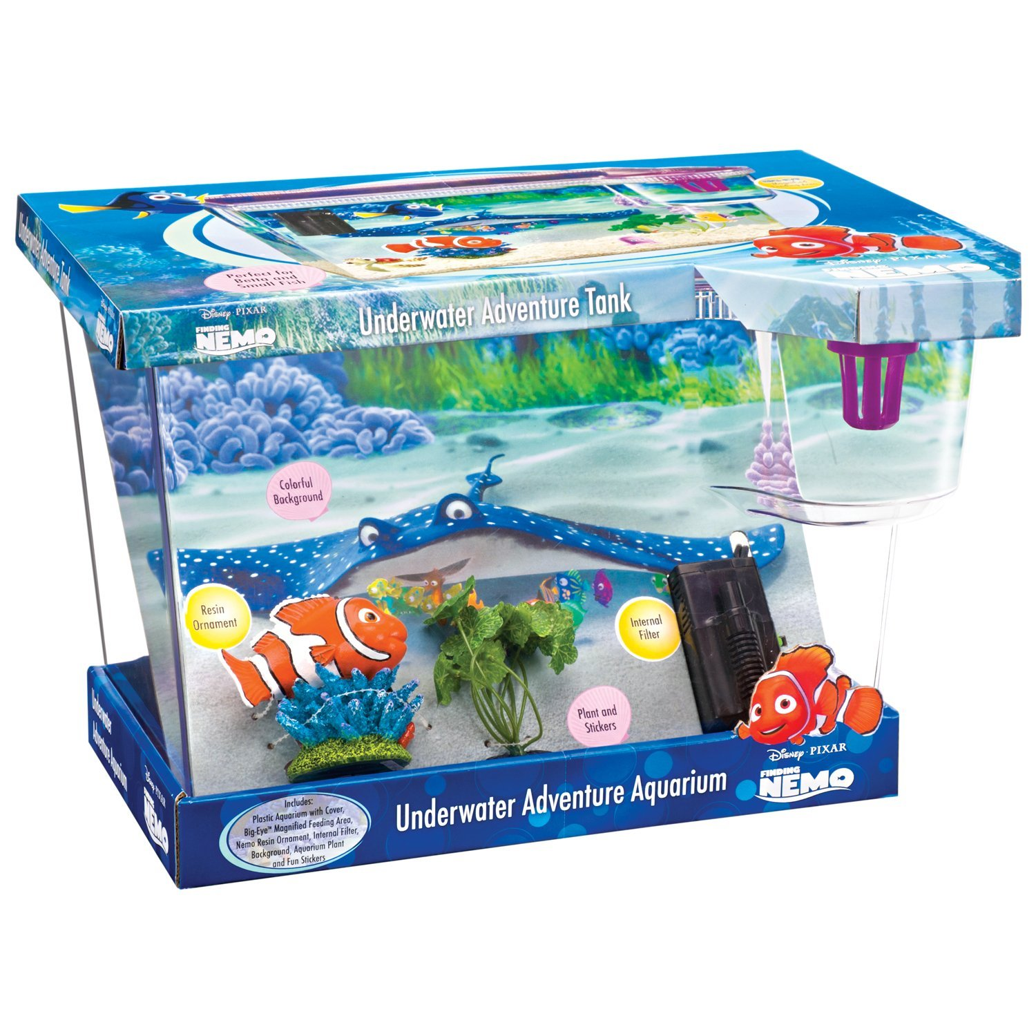 Fish in tank nemo - The Finding Nemo Disney Big Eye Fish Aquarium Fish Tank Amazon Co Uk Pet Supplies