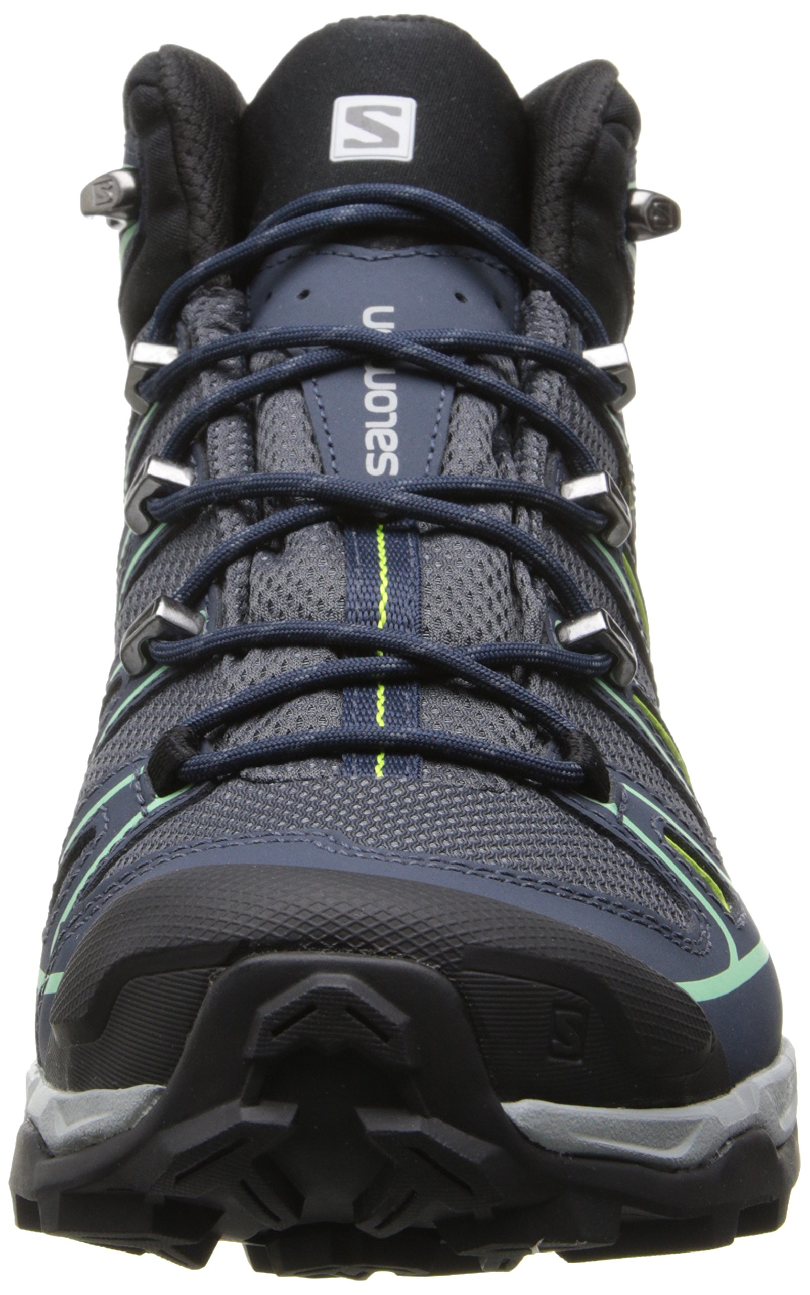 Salomon Women's X Ultra Mid 2 GTX Hiking Shoe, Grey Denim/Deep Blue/Lucite Green, 9 M US by Salomon (Image #4)