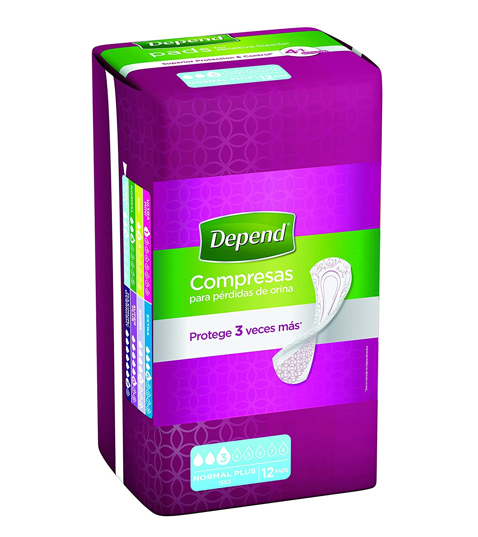 Depend Compresas - Absorbentes para pérdidas de orina, absorción extra, color beige - Pack de 10 unidades: Amazon.es: Bebé