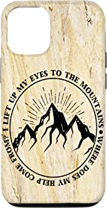 iPhone 12/12 Pro I lift up my eyes to the mountains Psalm 121:1 Bible Faith Case