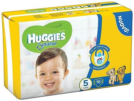 Huggies - Unistar - Pañales - Talla 5 (11 - 19 kg) - 16 pañales: Amazon.es: Salud y cuidado personal