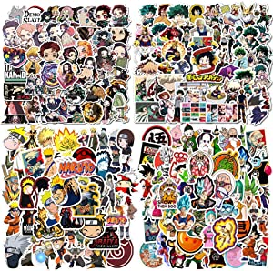 200PCS Anime Mixed Stickers,Popular Classic Anime Stickers for Laptop Water Bottles Phone Case Notebook Decal