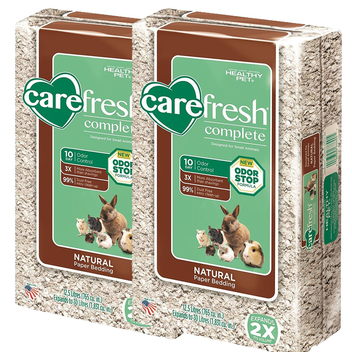 Carefresh Complete Natural Pet Bedding 12.5L 2-Pack by Carefresh