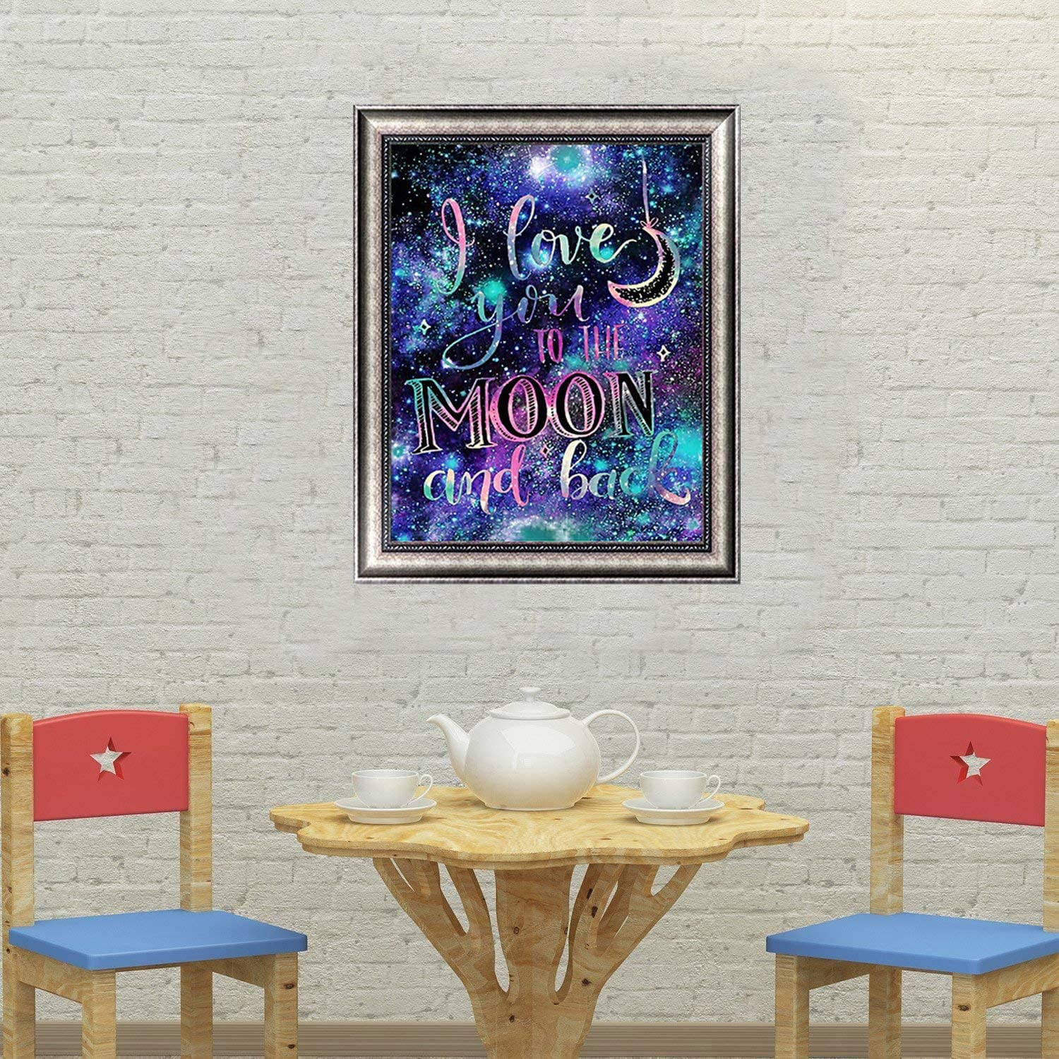 5D Diamond Painting Kit Full Drill Rhinestone Pictures Diamond Embroidery Paintings Arts Craft for Home Wall Decor Gift Color Set 7, 30 * 30CM trounistro Diamond Painting