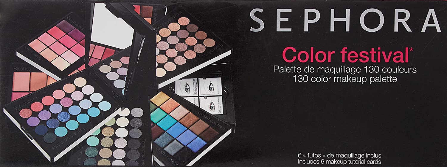 Sephora Color Festival 130 Color Makeup Palette: Amazon.es ...