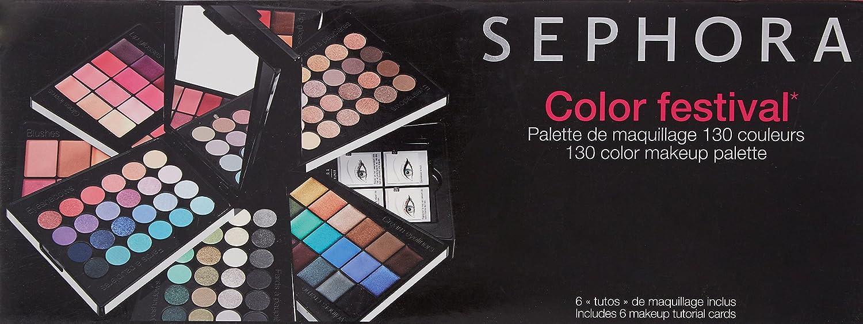 Sephora Color Festival 130 Color Makeup Palette: Amazon.es ...