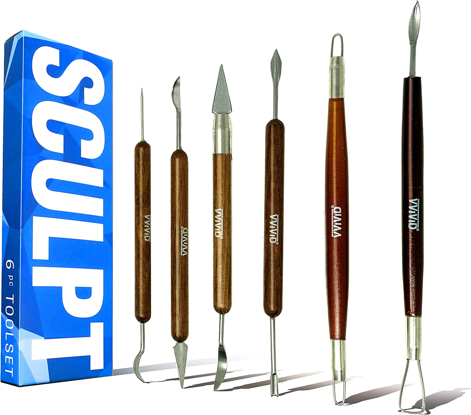 VViViD Sculpt Clay /& Ceramic Double-Ended Hand Tool Sets 5 Piece Set