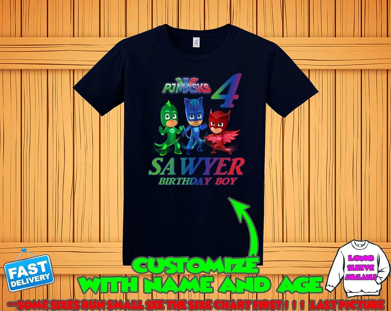 Amazon Pj Masks Birthday Shirt Pj Masks Custom Shirt
