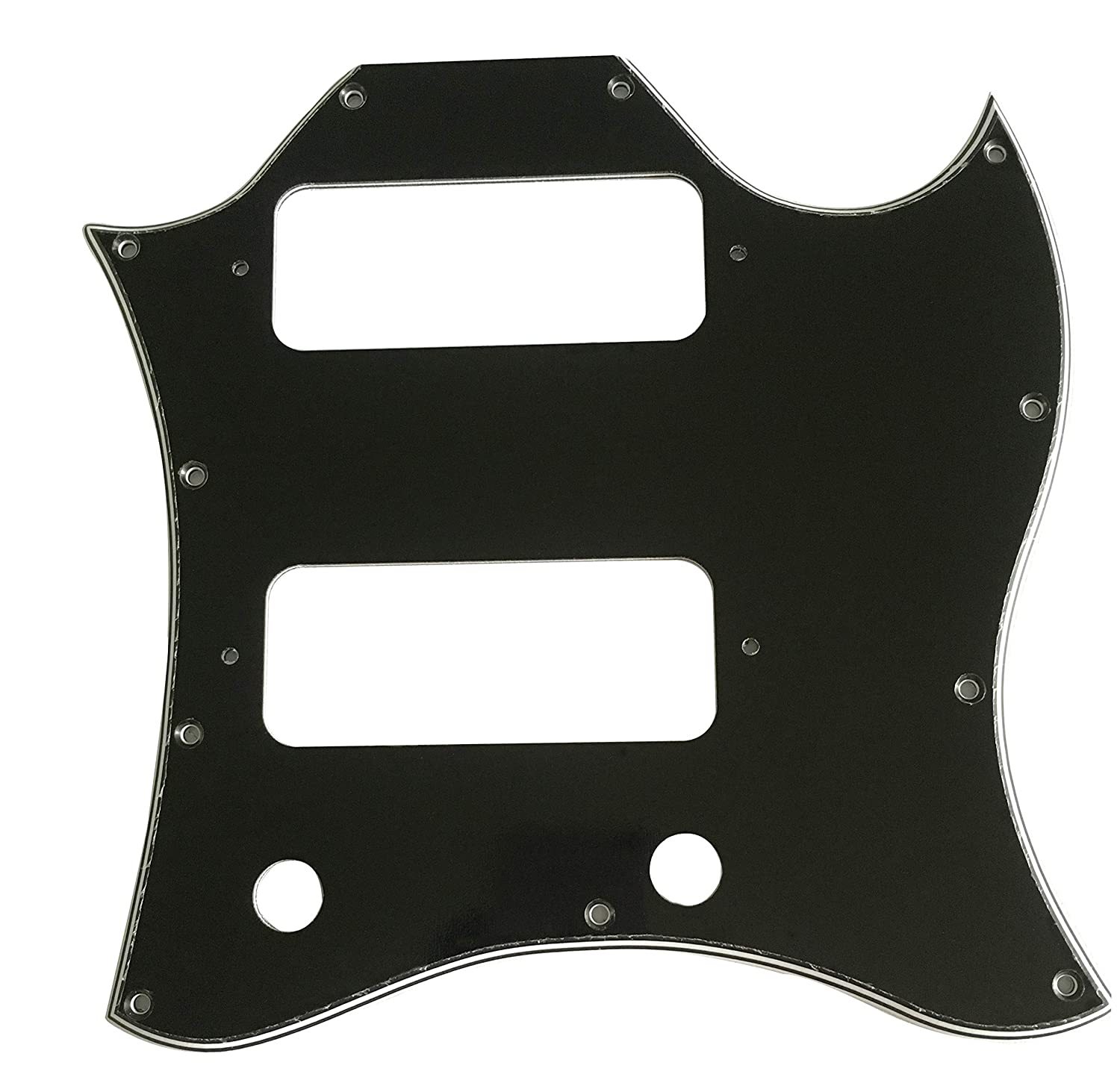 3 Ply Black Para US Gibson SG P90 Style Full Face Guitar Pickguard Scratch Plate