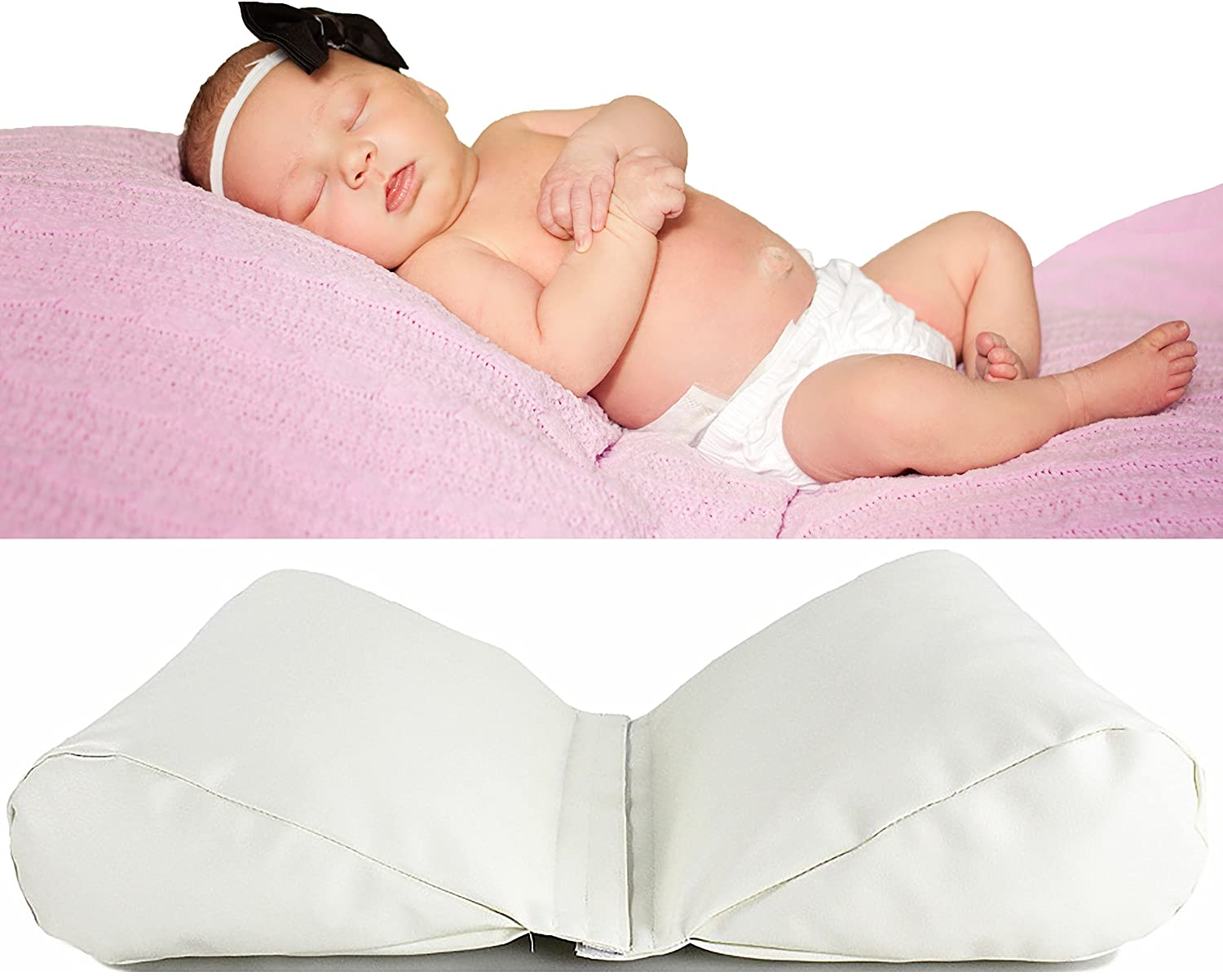 BABY CC Newborn Photography Butterfly Pillow - 2 Set Posing Props for Infant Boy and Girl Photoshoot - Wedges to Support Position - Ebook with Photo Shoot Tips Shaoxing Jinlong Textile Co