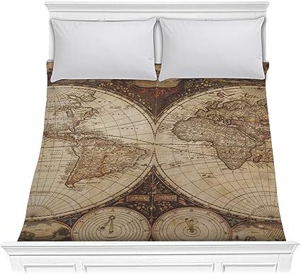 Amazon.com: RNK Shops Vintage World Map Comforter - Full ...