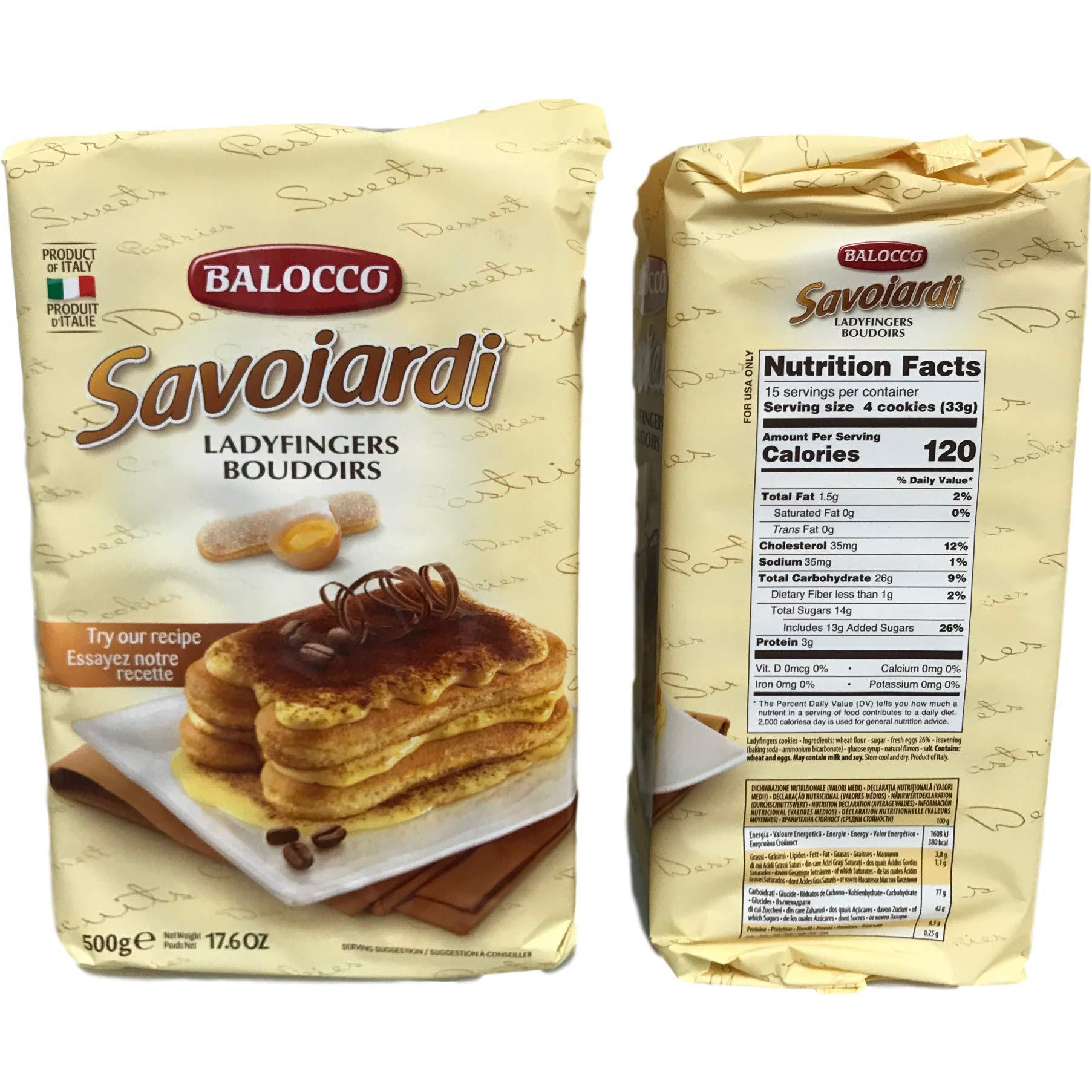 Balocco Savoiardi Lady Fingers - 17.6 oz (2 Pack) by Balocco