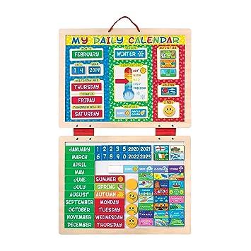 amazon my magnetic daily calendar 知育 学習玩具 おもちゃ