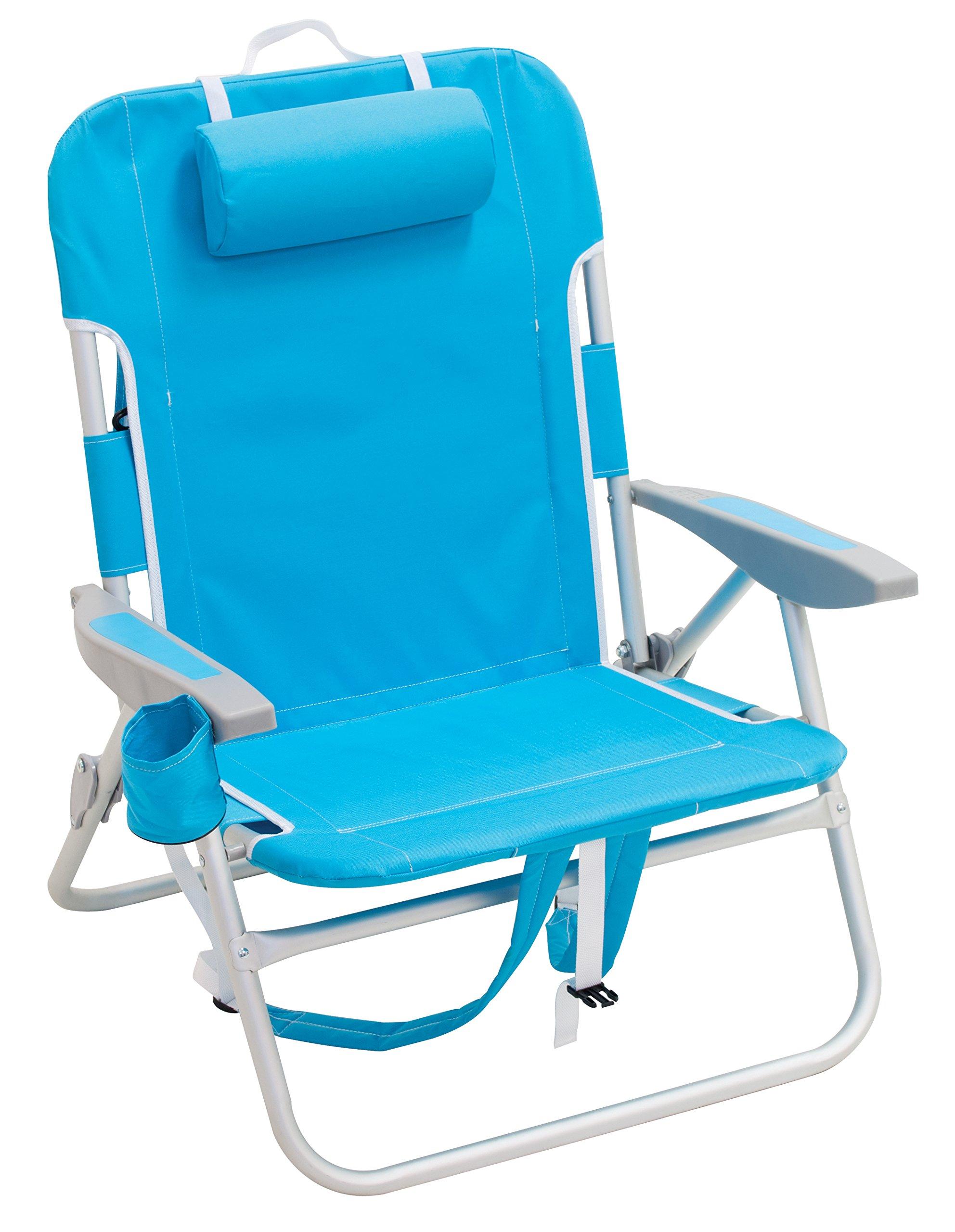 Rio Beach Big Boy Backpack Chair, Turquoise
