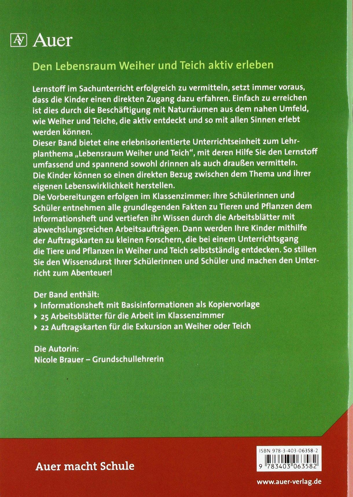 Tiere und Pflanzen in Weiher und Teich: Basisinformationen und ...