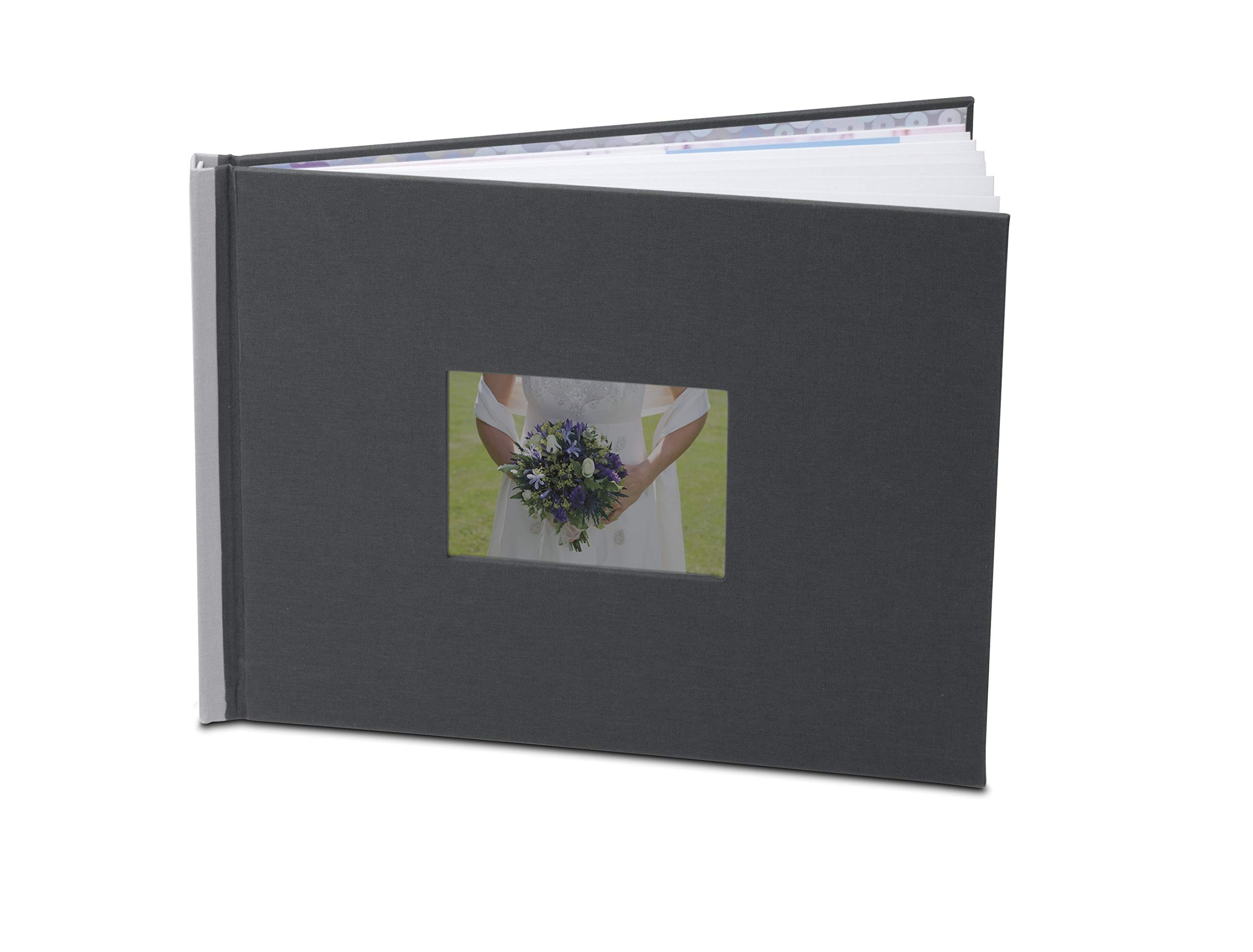 HP A4 GREY PHOTO BOOK EASILY MAKE A PROFESSIONAL-QUALITY PHOTO BOOK OF ANY OCCAS by HP