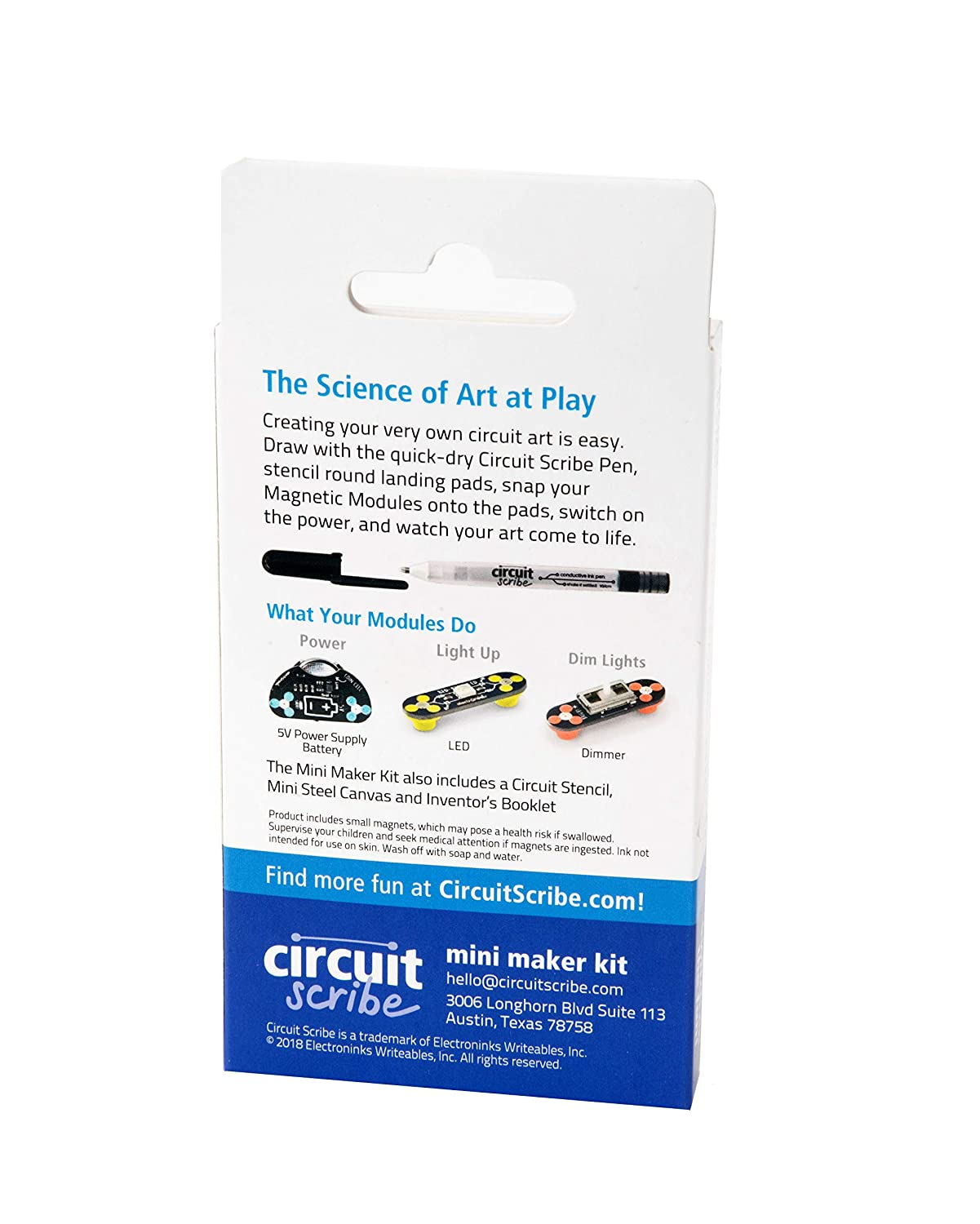 Circuit Scribe Mini Kit Draw Circuits Instantly Christmas Gift Shop Conductive Pen