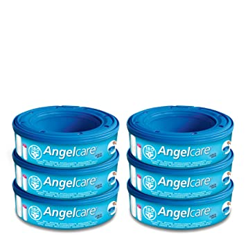 15 x Angelcare Nappy Disposal System Refill Cassettes Wrappers Bags Sacks Pack