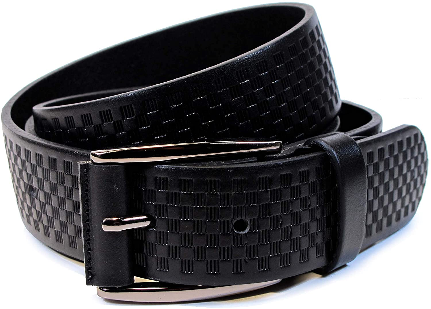 CW7 Womens Real Genuine Leather Black Belt 1.25 Wide S-XL Thick Long Casual Jeans
