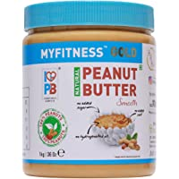 MYFITNESS Natural Peanut Butter Smooth 1Kg (Unsweetened)