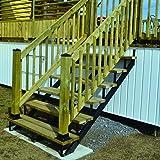 Pylex 13905 5 Steps Steel Stair Stringers, Black