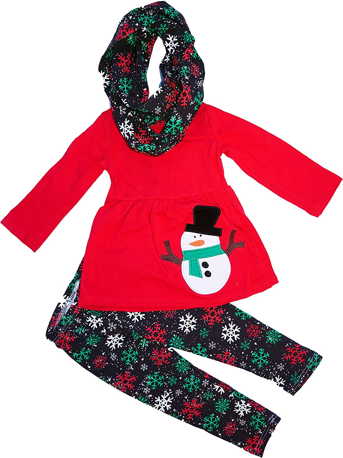 Angeline Boutique Clothing Girls Christmas Holiday Christmas Santa or Snowman Outfit Set